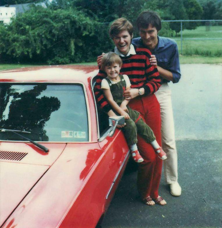 Kati Karikó met man en dochter  in 1985, toen ze emigreerden naar de Verenigde Staten. Beeld NYT