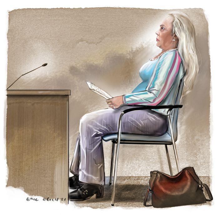De verdachte heeft een  brief bij  waarin ze voor zichzelf pleit dat de taakstraf láter opgelegd zou kunnen worden.