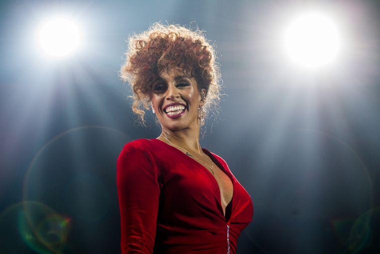 AMSTERDAM - Glennis Grace tijdens haar concert Whitney - a tribute by Glennis Grace in AFAS live. ANP KIPPA PAUL BERGEN Beeld Hollandse Hoogte /  ANP Kippa