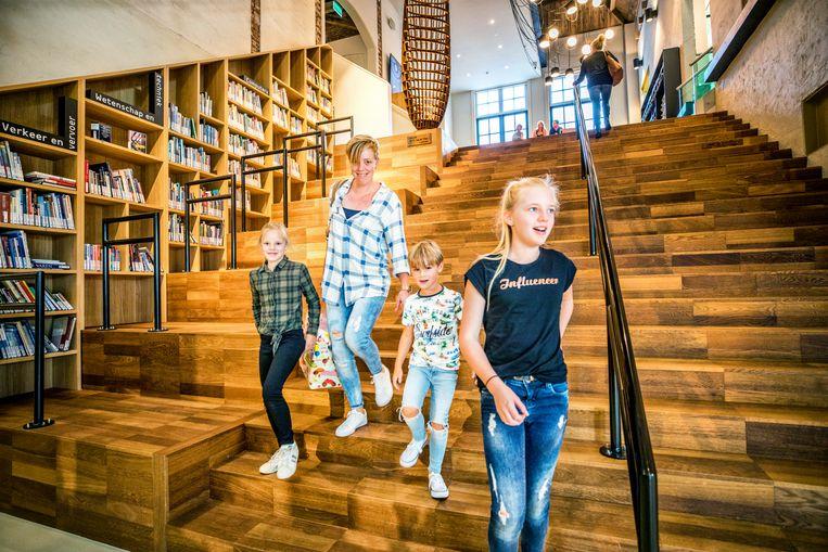 Bibliotheek 'School 7' in Den Helder werd in 2019 tot beste bibliotheek ter wereld uitgeroepen.  Beeld raymond rutting