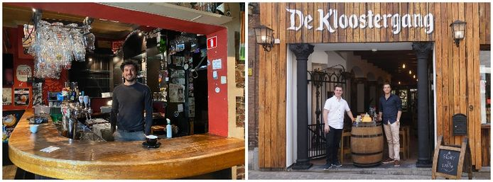 Bert Deckers, uitbater van 'Den draad' (links) en Kenny Hermans en Koen Naulaerts, uitbaters van 'De Kloostergang'.