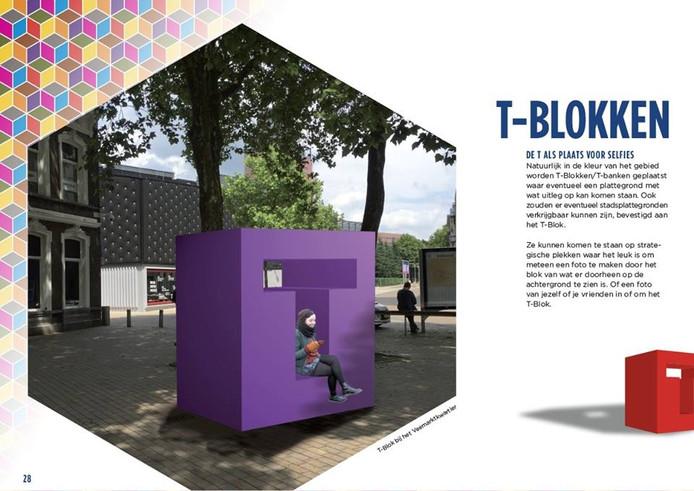 Een T-Blok. Ontwerp door Jac Schalk