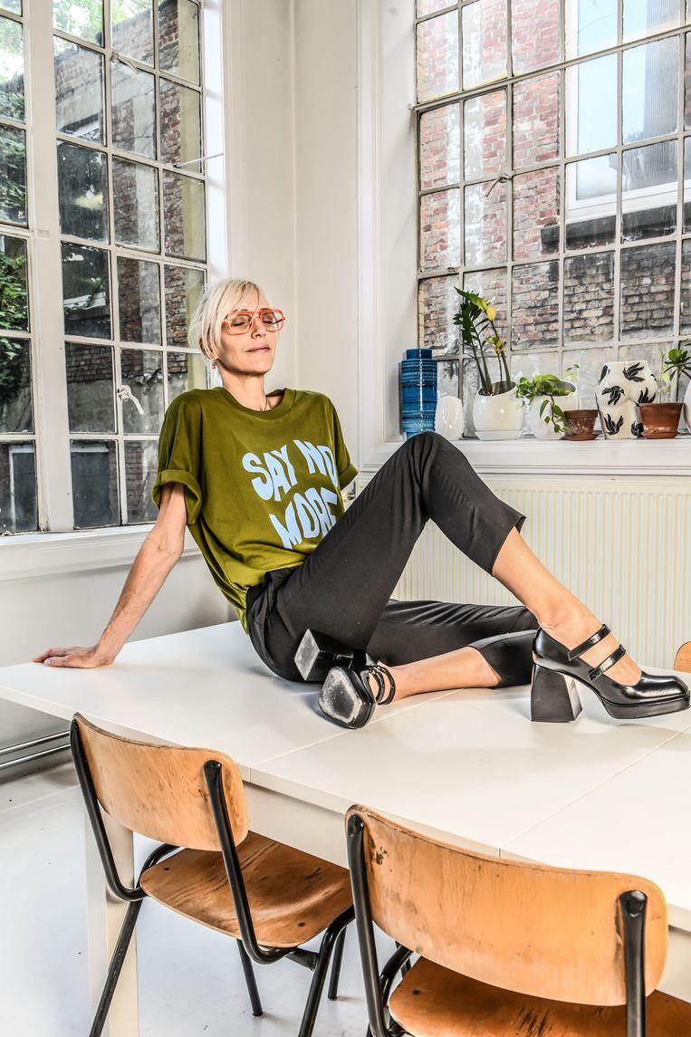 Hannelore Knuts: 'Ik kan zonder overdrijven zeggen dat meditatie me gered heeft.' Beeld Koen Bauters