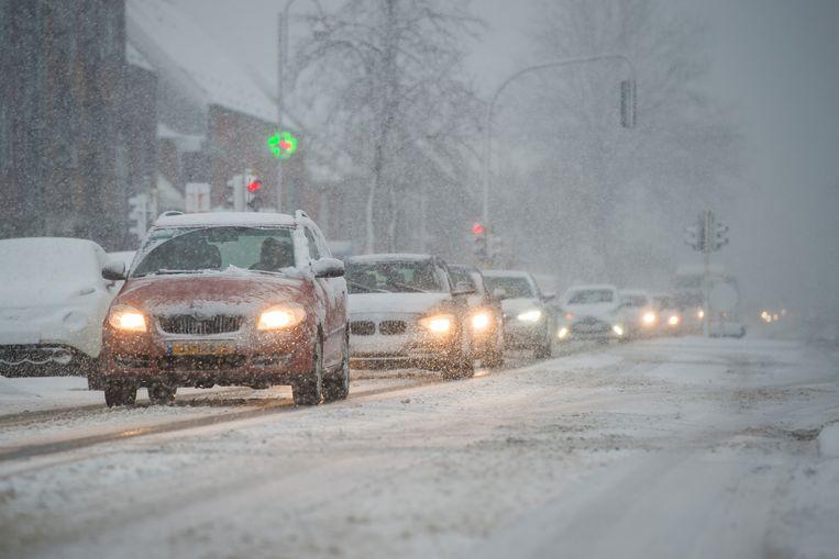 Witte wegen in Stabroek. Beeld Photonews