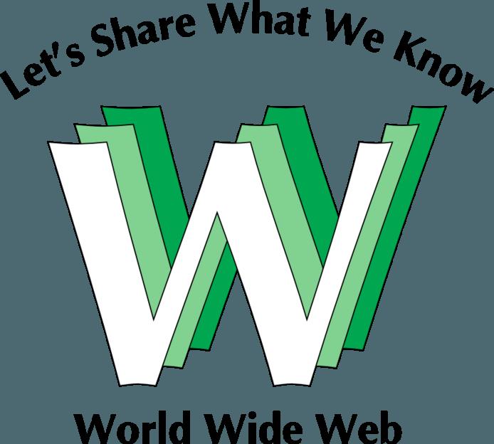 Het oorspronkelijke logo van het world wide web was groen