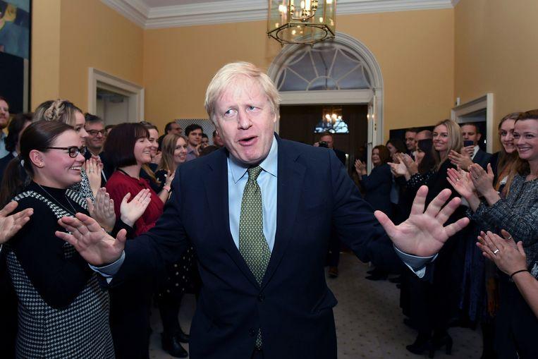 'Het gevoel overheerste dat het hoe dan ook ging gebeuren, dat een deal bevochten door Boris Johnson er op het laatste moment wel zou komen.' Beeld AP