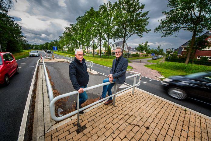 Christiaan Kruims (links) en Andre Muller stappen naar de Raad van State voor een sneller knip in de rondweg.