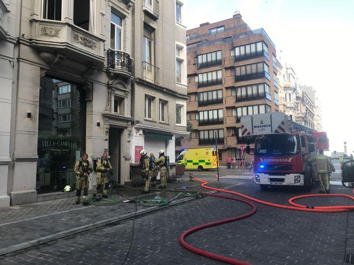 De brandweer had het vuur snel onder controle.