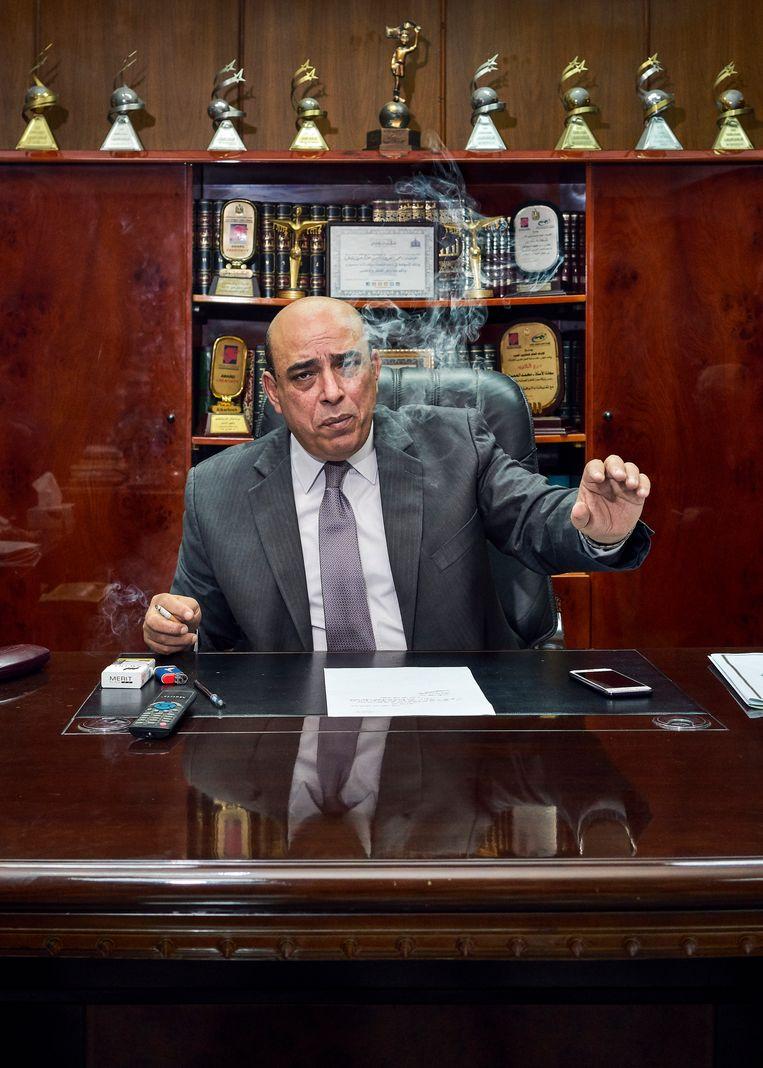 De CEO van platenlabel Sono Cairo: leiden de gesprekken straks tot een album met  heruitgaven van Egyptische singles?  Beeld Hannes Vandenbroucke