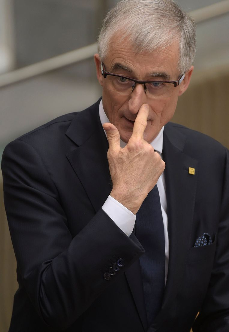 Vlaams minister-president Geert Bourgeois. Beeld Photo News