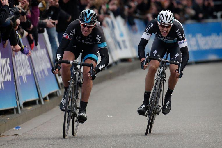 In de sprint is de Brit te sterk voor de Nederlander Beeld PHOTO_NEWS