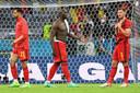 De teleurstelling was groot bij de Belgen na de uitschakeling.