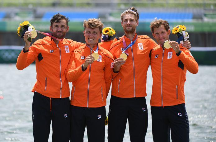Dirk Uittenbogaard, Abe Wiersma, Tone Wieten en Koen Metsemakers.