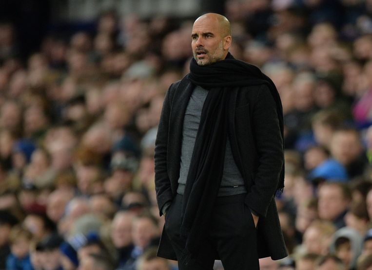 Soccer Football - Premier League - Everton vs Manchester City - Goodison Park, Liverpool, Britain - March 31, 2018   Manchester City manager Pep Guardiola    REUTERS/Peter Powell    EDITORIAL USE ONLY. No use with unauthorized audio, video, data, fixture lists, club/league logos or