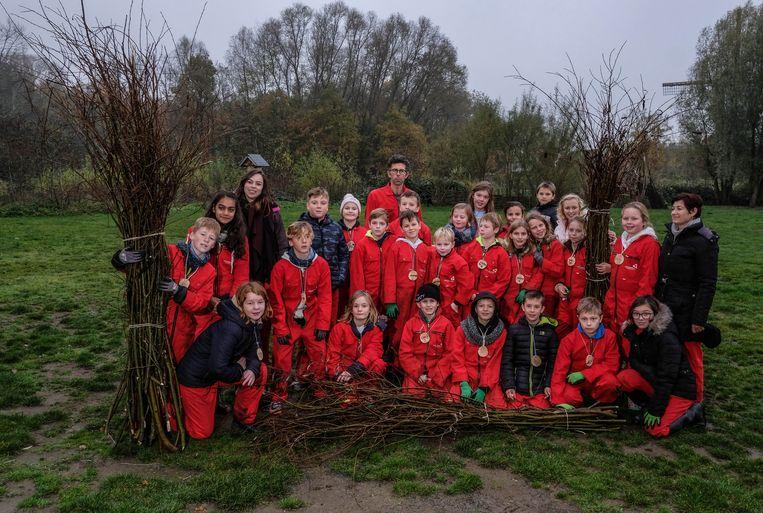 Stedelijke Basisschool Noord Hulste werkt samen met het provinciaal domein de Gavers en Inagro voor een project rond 'outdoor education'.