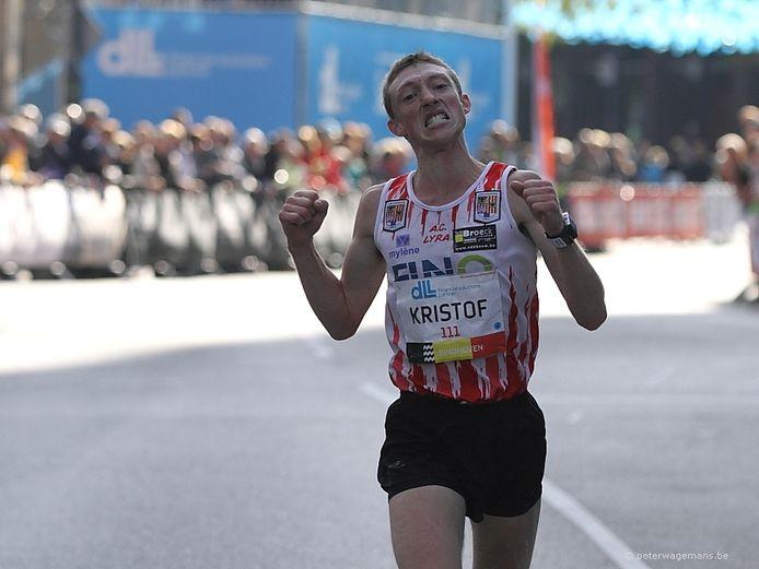 Kristof Nackaerts in de marathon van Eindhoven.