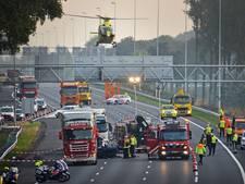 Meeste ongelukken op snelweg A12 bij Gouda