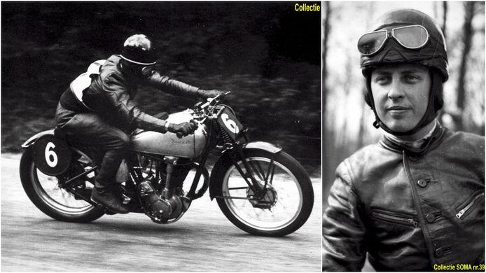 Gilbert 'Grizzly' De Rudder uit Buizingen was een talentvolle motorpiloot.