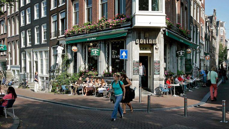 De hoek van Kloveniersburgwal en Staalstraat Beeld ANP