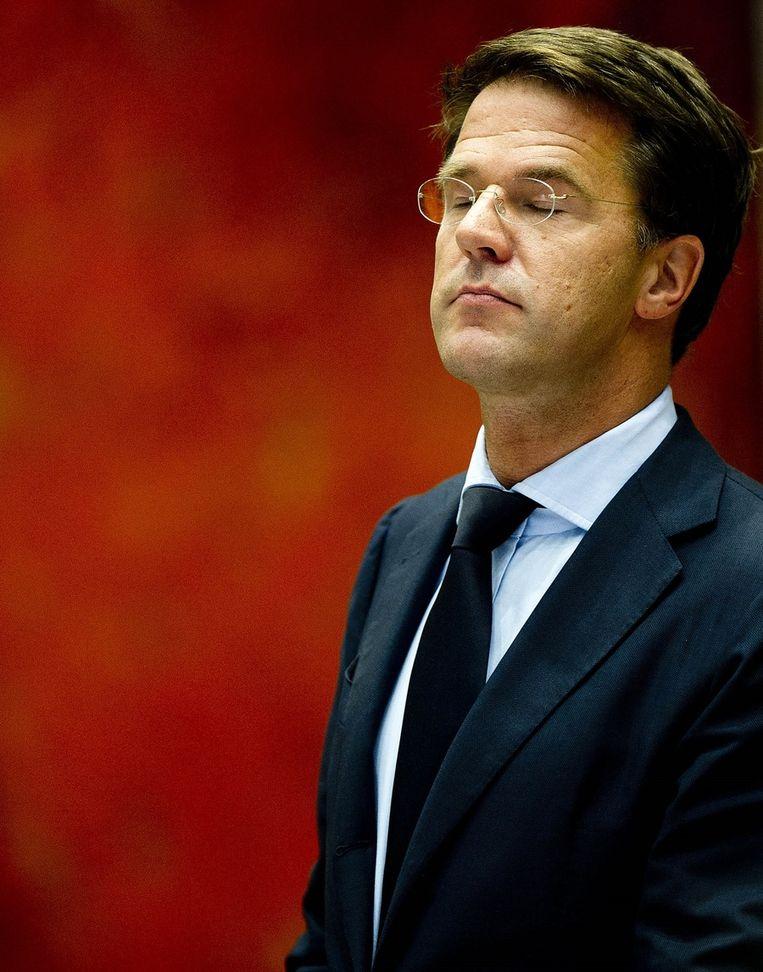 Minister-president Mark Rutte Beeld ANP
