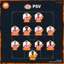 De vermoedelijke opstelling van PSV