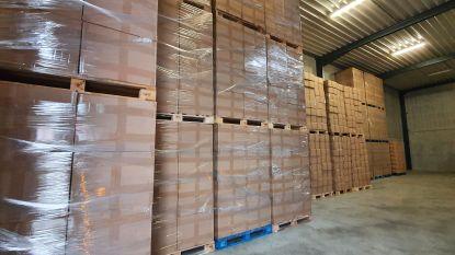 """Douane neemt recordaantal van 126 miljoen namaaksigaretten in beslag : """"Voor 65 miljoen euro aan accijnzen, taksen en belastingen ontdoken"""""""