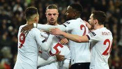 70 op 72: Liverpool vloert West Ham na strafschopfout op Origi en zet Man City op 19 (!) punten