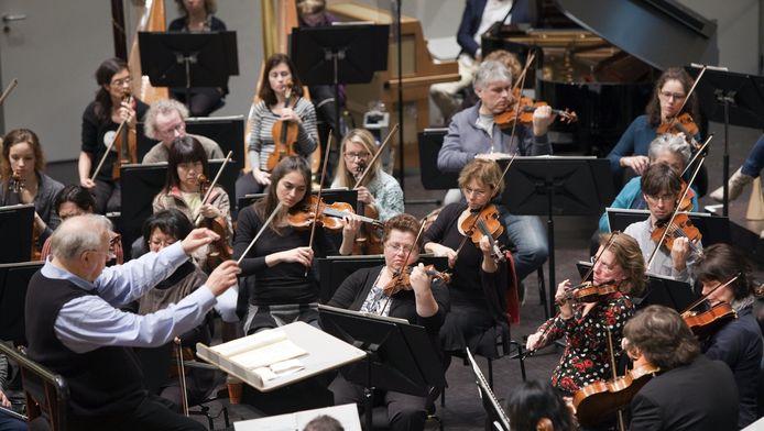 Repetitie van het Haagse Residentie Orkest in november vorig jaar.