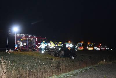 Twee gewonden bij ernstig ongeval op A58 bij Ritthem,