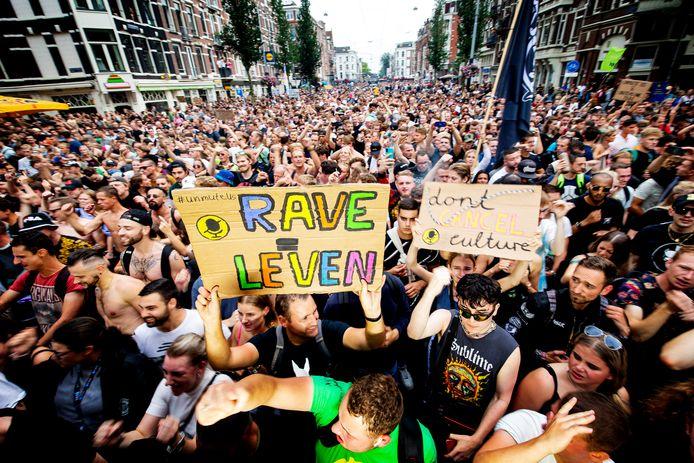 UnMute Us Protestmars afgelopen weekend in Amsterdam.