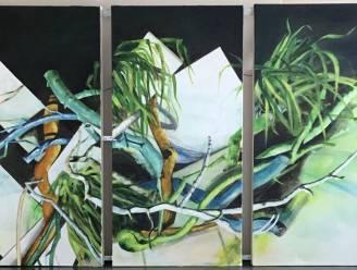 Kunst aan het raam als alternatief voor tentoonstelling bij Palmzondag