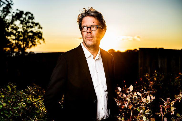 Jonathan Franzen: 'Ik wil als schrijver hetidee hebben dat ikmet iets bezig ben dat ik nog niet eerder heb gedaan.' Beeld HH / Redux