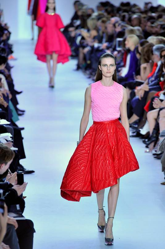 De voorstelling van de nieuwste Dior-collectie tijdens de Fashionweek in Parijs.