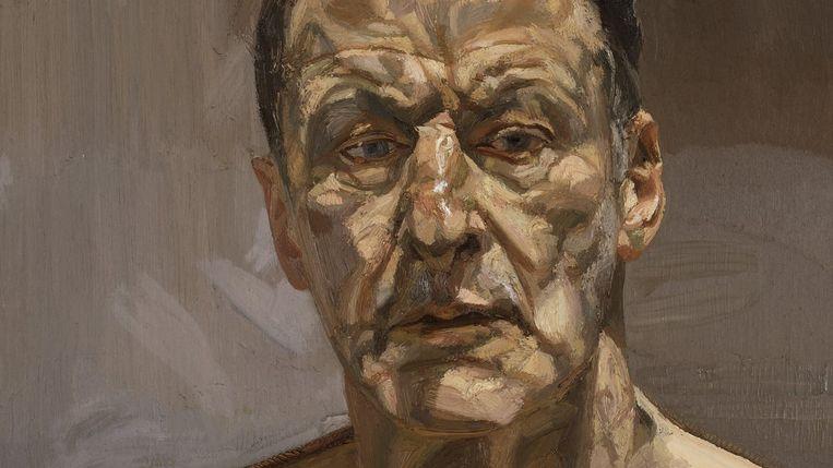 Lucian Freud, Reflection (Self-portrait), 1985 Beeld The Lucian Freud Archive/Bridgeman Images