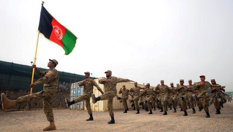 Afghaanse politie in Herat. Beeld afp