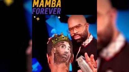 Kapper eert Kobe Bryant met portret