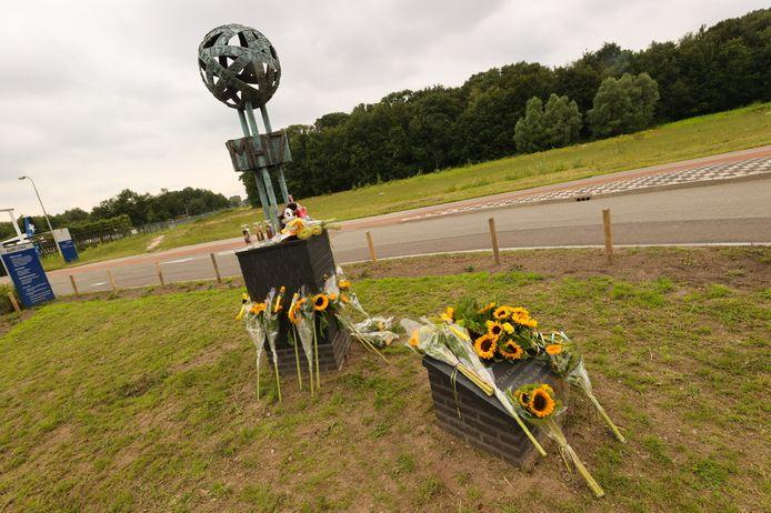 Het Eindhovense MH17 monument.