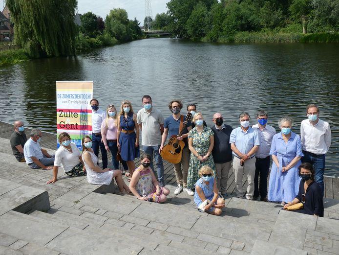 De organisatoren van de Zomerzoektocht aan Machelenput.