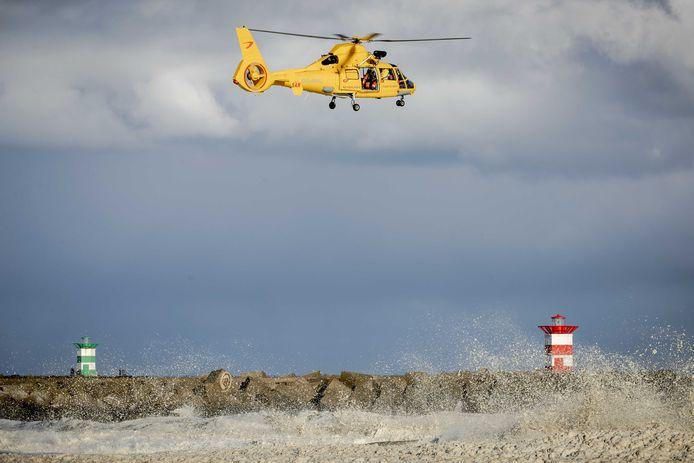 Een helikopter van de Kustwacht