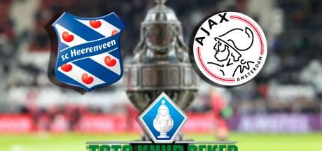 Heerenveen aast in halve finale TOTO KNVB Beker op stunt tegen Ajax