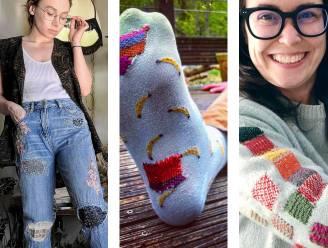 Kapot kledingstuk? 'Visible mending' is de nieuwe modetrend voor wie niet houdt van weggooien