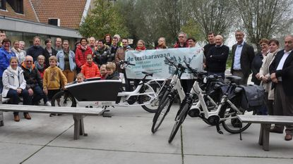 Inwoners testen elektrische fiets uit