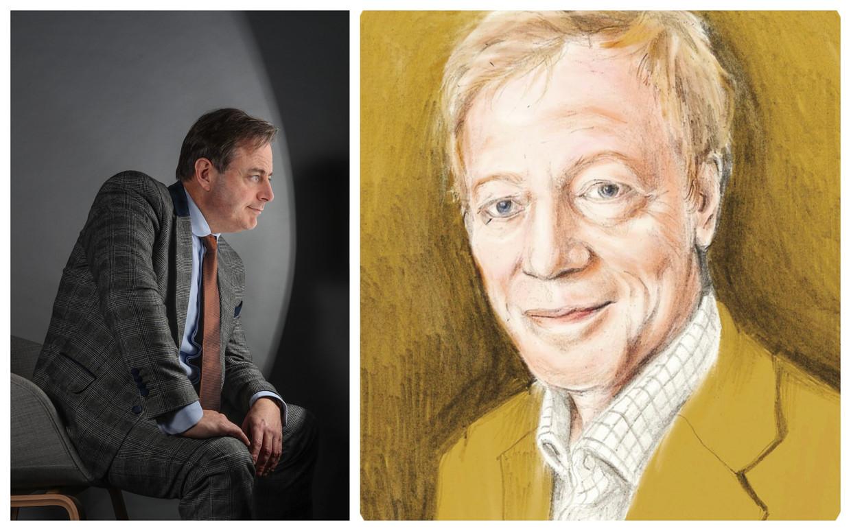 Bart De Wever: 'Ik zal de herinnering aan onze ontmoeting in Londen altijd koesteren, Roger.' Beeld photo news/Penelope Deltour