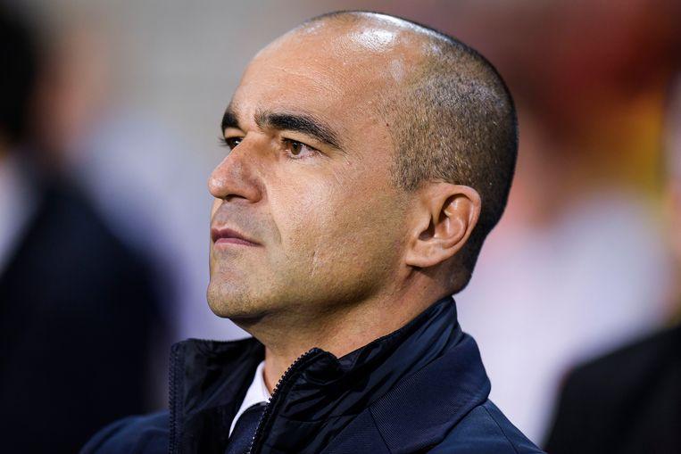 Roberto Martínez: 'Ik beweer niet dat je er automatisch niet bij bent op het EK als je te weinig minuten gemaakt hebt, maar je neemt wel een risico.' Beeld GMAX AGENCY