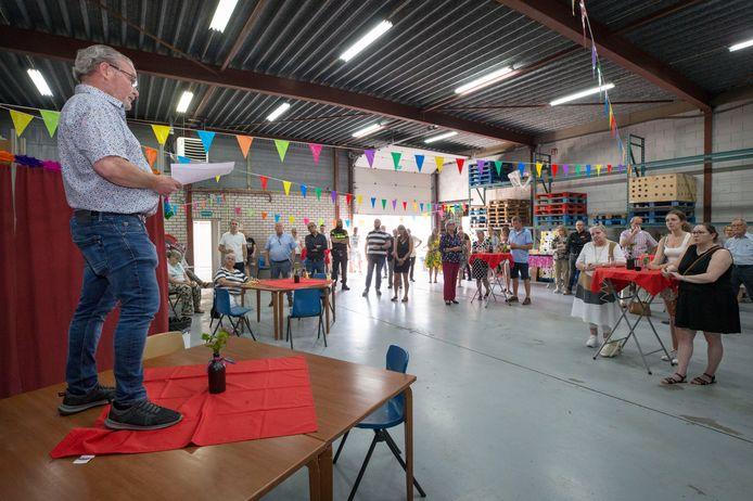 Jan Kooijman opent de nieuwbouw van de Goederenbank Oosterhout.