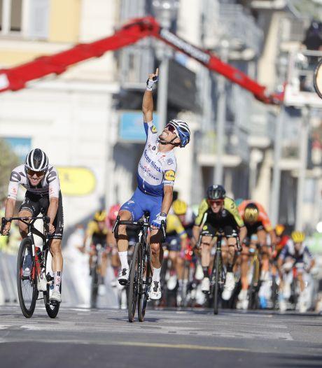 Geëmotioneerde Alaphilippe sprint in Nice naar ritwinst en gele trui, Mollema zesde