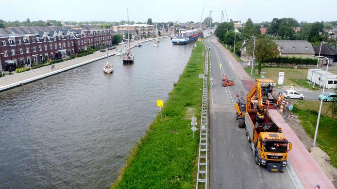 Werkzaamheden aan de N207 in Waddinxveen