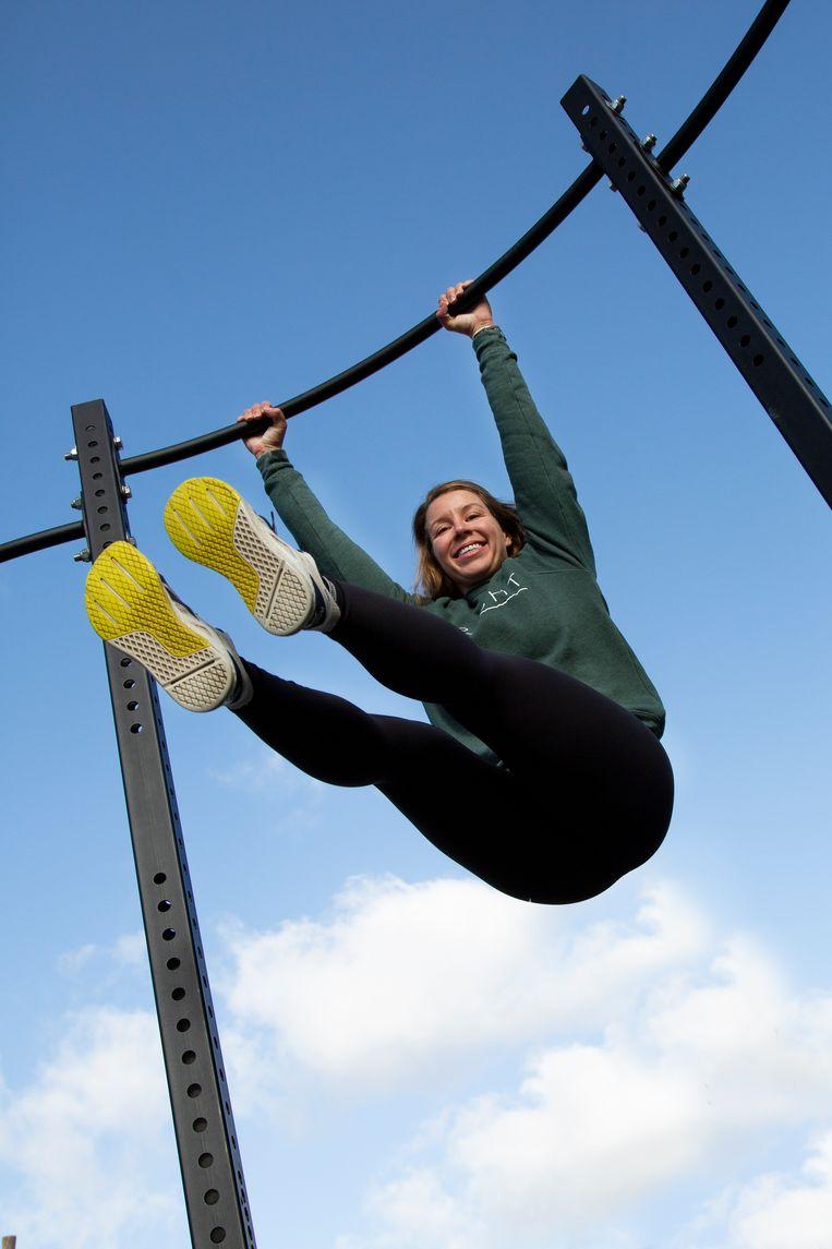 Charlotte Maris van sportschool Kracht Amsterdam. Beeld Susanne Stange