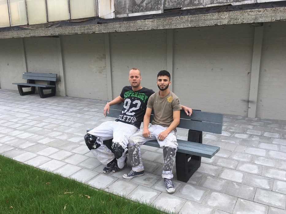 Anouar Abdellati (r) met zijn werkgever Brian Meeuwissen.