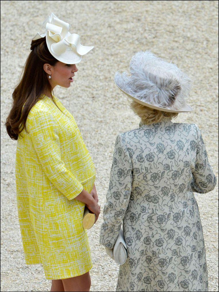 De zwangere Britse Kate Middleton.